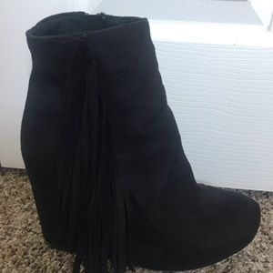Xhilaration Tassel Wedge Bootie
